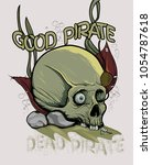 a skull of a pirate on the... | Shutterstock .eps vector #1054787618