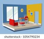 vector illustration of detailed ... | Shutterstock .eps vector #1054790234