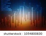 2d rendering stock market... | Shutterstock . vector #1054800830