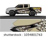 truck graphic vector. racing... | Shutterstock .eps vector #1054801763