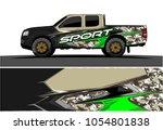 truck graphic vector. racing... | Shutterstock .eps vector #1054801838