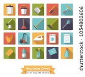 housework and cleaning square... | Shutterstock .eps vector #1054802606