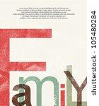 old family print background | Shutterstock .eps vector #105480284