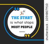 vector quote. the start is what ... | Shutterstock .eps vector #1054807910