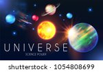 space shining backgrouns with... | Shutterstock .eps vector #1054808699