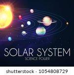 solar system with elegant...   Shutterstock .eps vector #1054808729