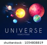space shining backgrouns with... | Shutterstock .eps vector #1054808819
