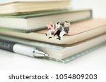 miniature people  business team ... | Shutterstock . vector #1054809203