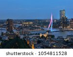 rotterdam city center at night   Shutterstock . vector #1054811528