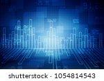 2d rendering stock market...   Shutterstock . vector #1054814543