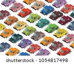 illustration of 3d isometric... | Shutterstock .eps vector #1054817498
