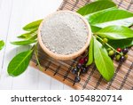 cosmetic clay in bowl   Shutterstock . vector #1054820714