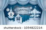 premium curtains stage with...   Shutterstock .eps vector #1054822214