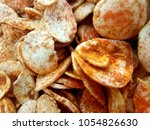 chips background and textures  | Shutterstock . vector #1054826630