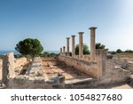 cyprus. ruins of the sanctuary... | Shutterstock . vector #1054827680