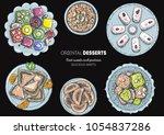 oriental sweets vector... | Shutterstock .eps vector #1054837286