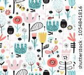 seamless pattern with... | Shutterstock .eps vector #1054841816