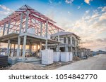 construction residential new... | Shutterstock . vector #1054842770