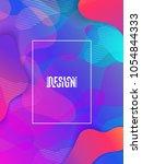 fluid shapes composition.... | Shutterstock .eps vector #1054844333