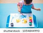cute little asian 18 months   1 ... | Shutterstock . vector #1054844993