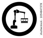 robotic hand manipulator black... | Shutterstock .eps vector #1054847378