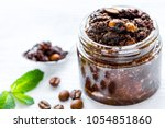 homemade cosmetics with coffee... | Shutterstock . vector #1054851860