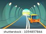vector illustration of tunnel... | Shutterstock .eps vector #1054857866