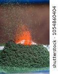 chemical reaction of ammonium... | Shutterstock . vector #1054860404