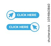 click here button with arrow... | Shutterstock .eps vector #1054863860