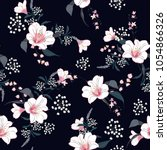trendy  floral pattern in the... | Shutterstock .eps vector #1054866326