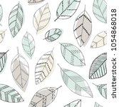 beautiful seamless doodle... | Shutterstock .eps vector #1054868018