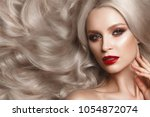 beautiful blonde in a hollywood ... | Shutterstock . vector #1054872074