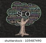 seo or search engine... | Shutterstock . vector #105487490