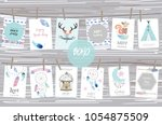 cute cards for banners flyers...   Shutterstock .eps vector #1054875509