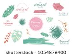 tropical icon with palm ... | Shutterstock .eps vector #1054876400