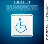 disabled handicap icon isolated ... | Shutterstock .eps vector #1054878644