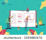 online education concept with... | Shutterstock .eps vector #1054882676