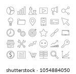 seo icons set. linear...