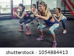 group of athlete women... | Shutterstock . vector #1054884413