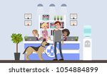 vetclinic illustration with... | Shutterstock .eps vector #1054884899