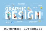 graphic design concept. idea of ... | Shutterstock .eps vector #1054886186