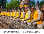 buddha statues at the temple of ... | Shutterstock . vector #1054886843