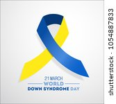 world down syndrome day. event... | Shutterstock .eps vector #1054887833