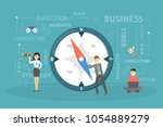 business compass illustration.... | Shutterstock .eps vector #1054889279