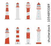 set of color icons of... | Shutterstock .eps vector #1054893389