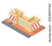 isometric restaurant cafe ... | Shutterstock .eps vector #1054893764