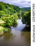 english summer landscape with... | Shutterstock . vector #1054897490