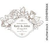 wedding vintage card | Shutterstock .eps vector #1054898666