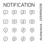 notification related vector...