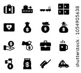 solid vector icon set  ...